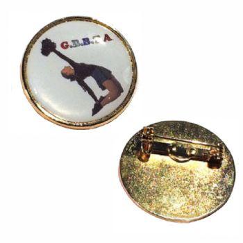 27mm premium gold badge clasp